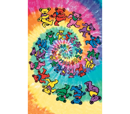 The Grateful Dead Colorful Bears Dorm Posters College