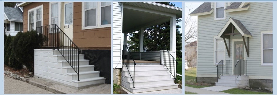 Doty Steps Quality Precast Steps And Custom Railings Since 1948   Premade Steps For Outside   Front Porch   Concrete   Wooden   Precast Concrete Steps   Deck Stairs