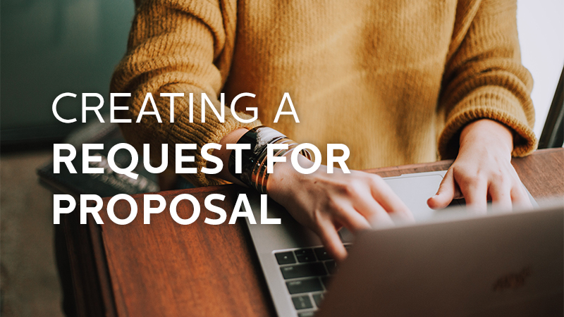 Creating a Request for Proposal  RFP    Dowitcher Designs creating a RFP