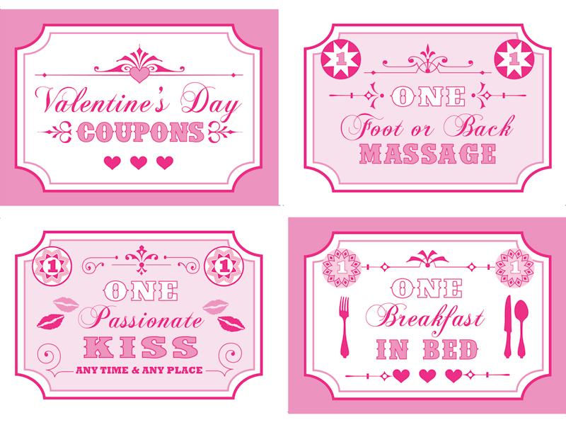 Free Printable Valentine Coupon Book