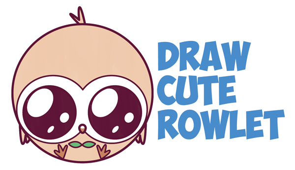 Image of: Kawaii How To Draw Cute Kawaii Chibi Rowlet From Pokemon Sun And Moon Easy Step By Step Drawing Tutorial For Kids And Beginners Drawing How To Draw Chibi Rowlet Archives How To Draw Step By Step Drawing Tutorials