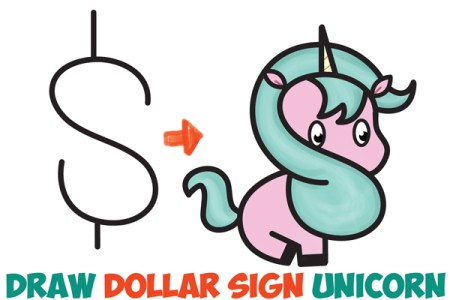 Draw So Cute Unicorn Girl Love T Cute Drawings