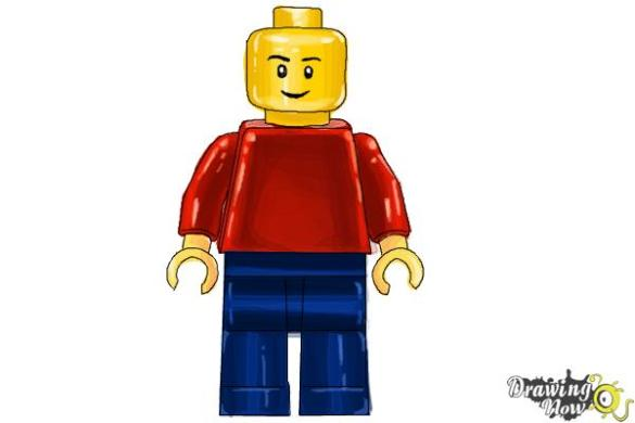 Drawing Lesson YouTube How To Draw A 3D Lego Minifigure DrawingNow Step