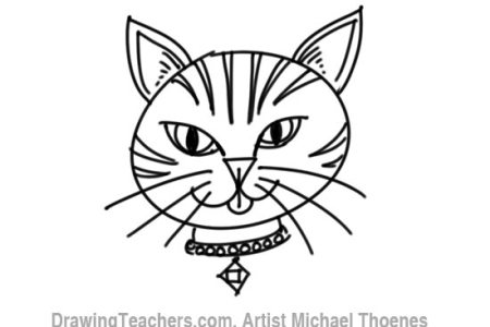 How To Draw A Cartoon Cat Face Easy Anexa Tutorial