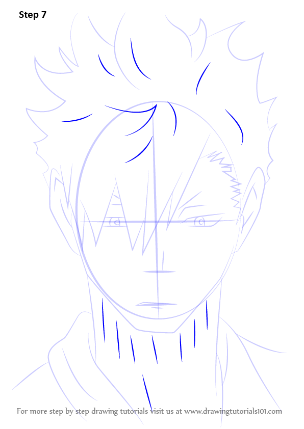 Step By Step How To Draw Kuroo Tetsurou From Haikyuu