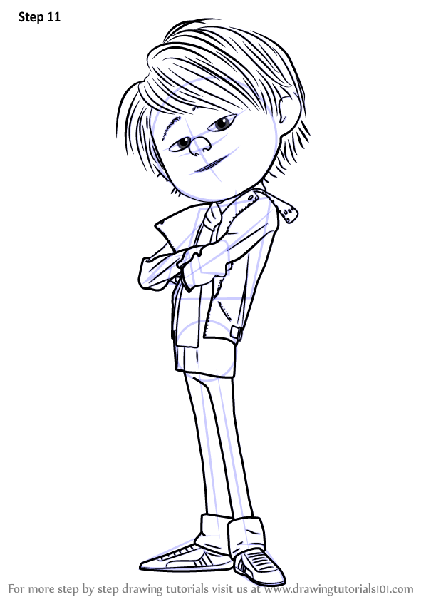 Learn how draw antonio perez despicable me 2, cartoon coloring pages