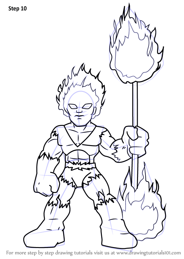 Learn how draw firelord super hero squad show, girl coloring pages