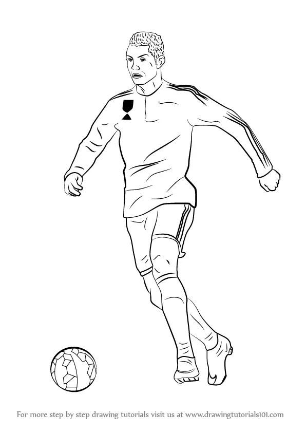 Easy Drawing Cristiano Ronaldo
