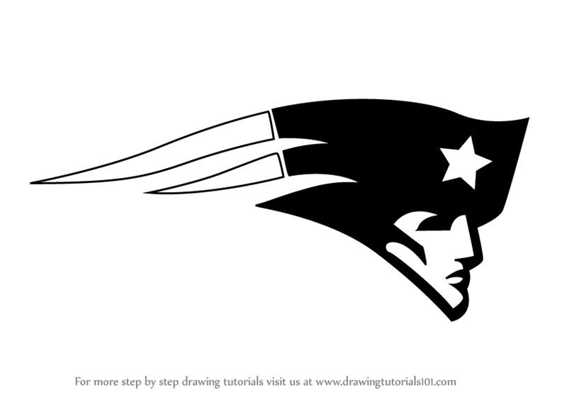 Learn How to Draw New England Patriots Logo (NFL) Step by ...