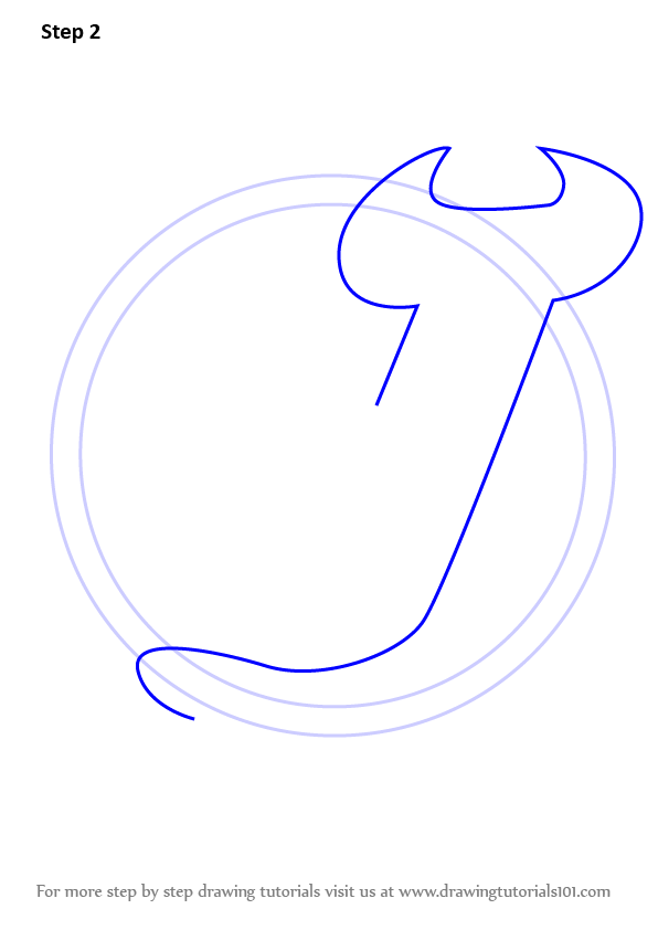 Learn How To Draw New Jersey Devils Logo Nhl Step By