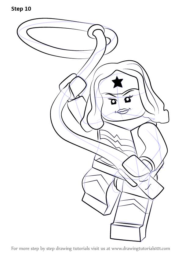 Wonder Woman Line Drawing