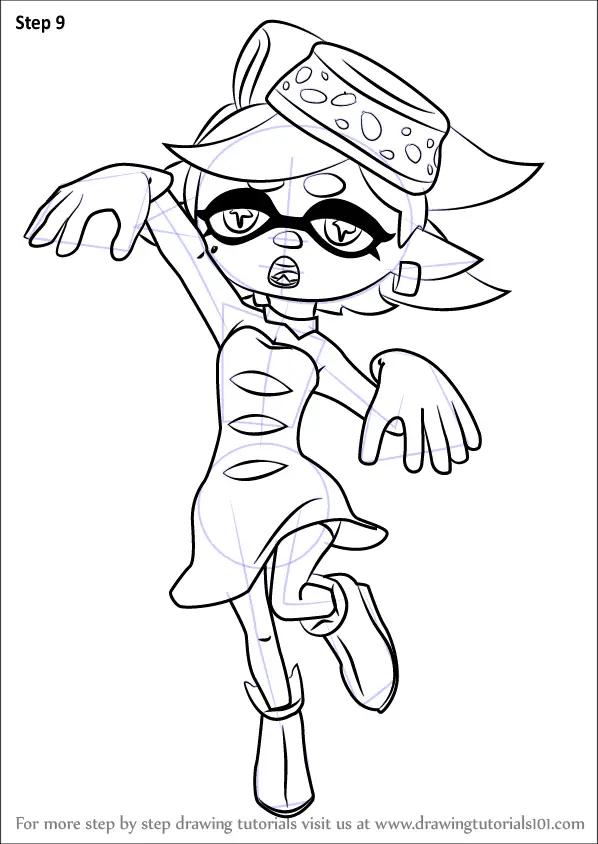2 Splatoon Callie Coloring Page