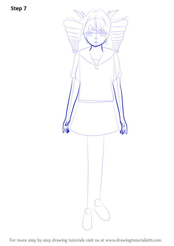 Step By Step How To Draw Kokona Haruka From Yandere