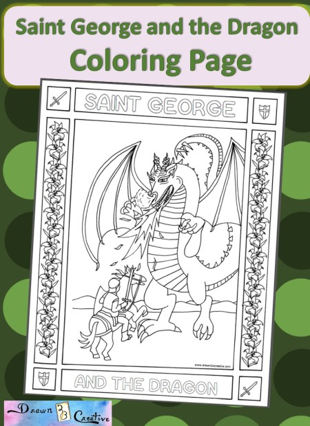 Saint george and dragon drawn2bcreative, love coloring pages printable
