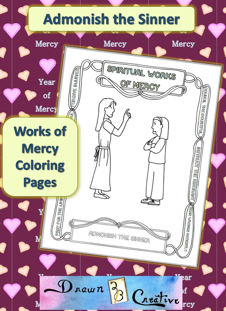 Works of Mercy Coloring Pages: Admonish the Sinner ...