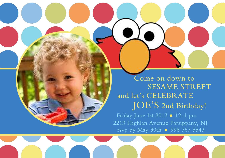 Printable Elmo Invitations