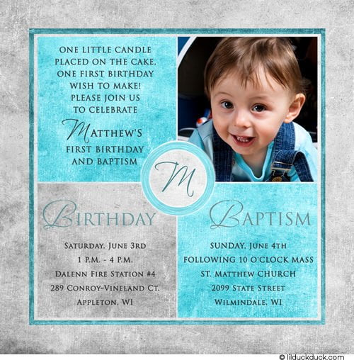 Sample Christening Invitation Card Baby Boy