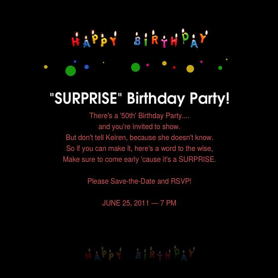 Birthday Invitations 50th Surprise