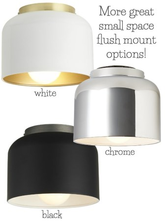Best Flush Mount Ceiling Lighting   My 10 Faves From Inexpensive to     Simple inexpensive bell shaped flush mount lighting that s perfect for  small spaces