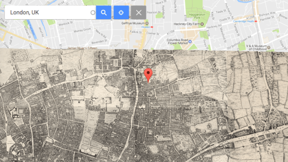 Support for Google Maps Custom Overlays with Geocoding Widget     A very simplistic graphic of what this might look like