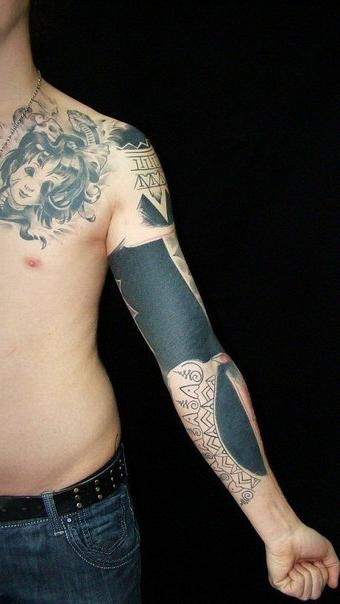 Hindu Symbols Blackwork tattoo sleeve   Best Tattoo Ideas ...