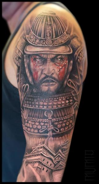 Scar Face Samurai Realistic Tattoo By Mumia Tattoo Best