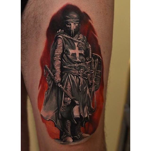Knights Armor Sleeve Tattoo
