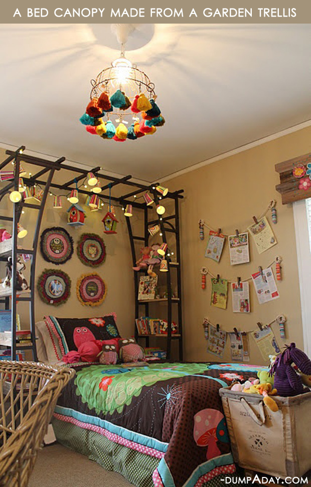 Amazing Easy DIY Home Decor Ideas  bed canopy   Dump A Day Amazing Easy DIY Home Decor Ideas  bed canopy