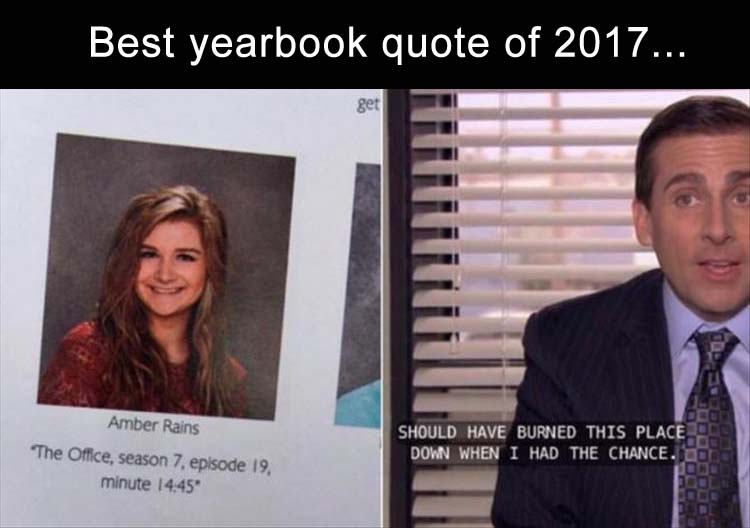 Good Yearbook Quotes From The Office Good Quotes