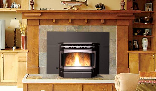 The Meridian Pellet Fireplace Insert