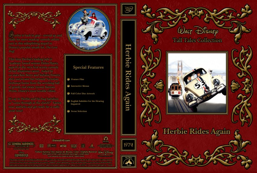 herbie rides again opening dvd - 850×571