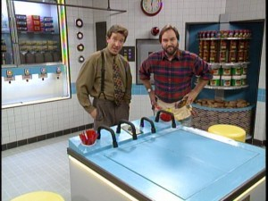 Home Improvement  The Complete Third Season DVD Review   Page 2 of 2 Tim and Al stand in  The Man s Kitchen