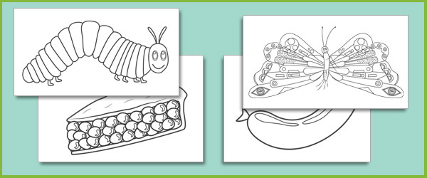 the very hungry caterpillar coloring pages # 25