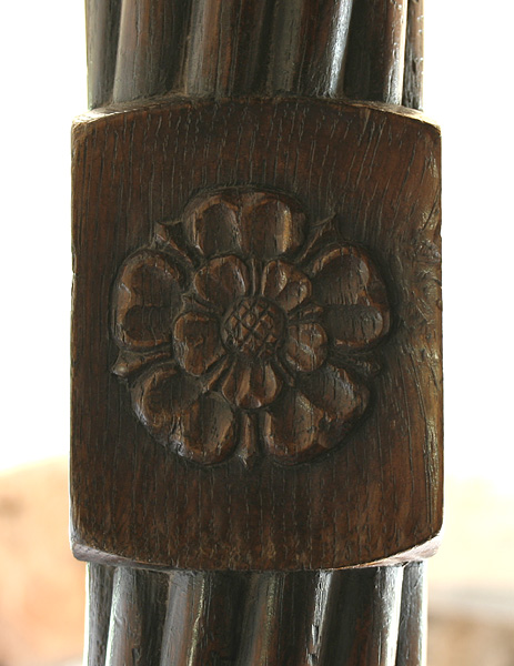 Tudor Rose Carving On 4 Poster Bed
