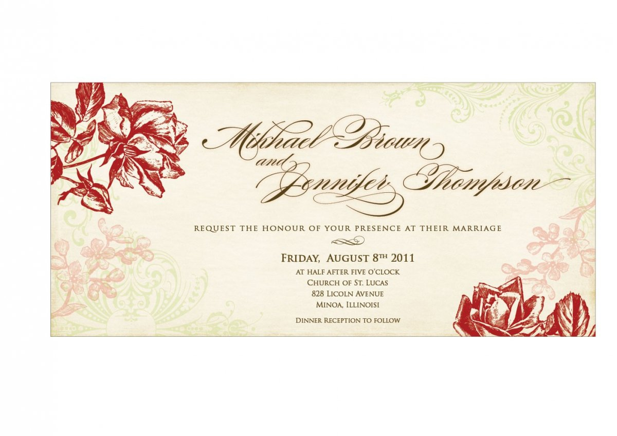 Marriage Invitation Format