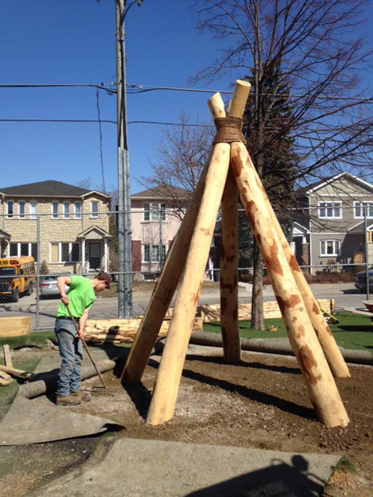 Wood Playground Equipment Ontario Earthscape Ontario