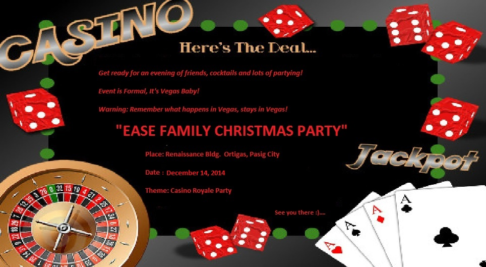 Excellent Casino Birthday Party Invitations Pictures Inspiration ...