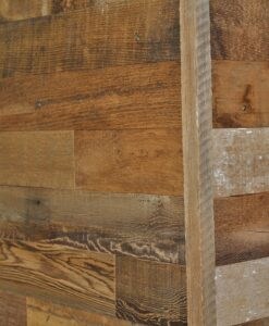 Diy Reclaimed Wood Accent Wall Grey And Natural Brown