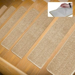 Top 10 Best Stair Treads In 2020 Reviews Buyer S Guide   Soloom Carpet Stair Treads   Blended Jacquard   Amazon   Beige   Mat   Flooring