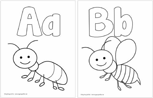 letters coloring pages # 2
