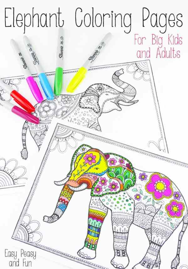 coloring pages elephant # 17