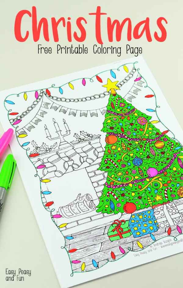 christmas coloring pages printable free # 25