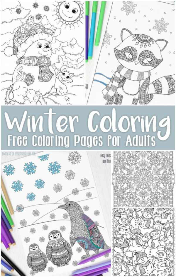 free printable winter coloring pages # 16