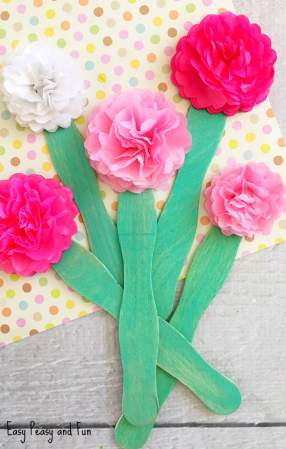 Tissue Paper Flower Craft   Easy Peasy and Fun Tissue Paper Flower Craft