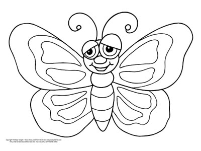 free printable butterfly coloring pages # 5