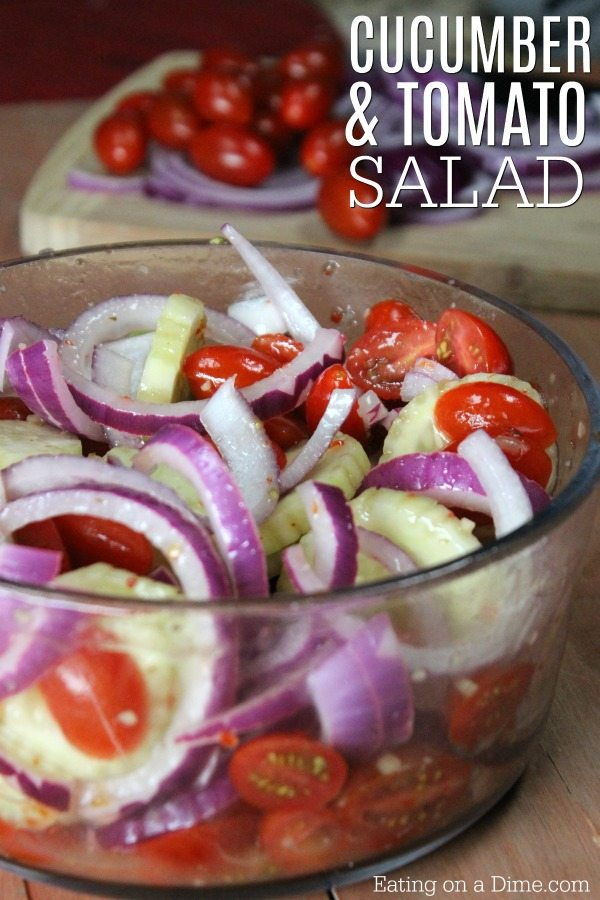 Cucumber Tomato Salad Recipe Easy Cucumber Tomato Onion