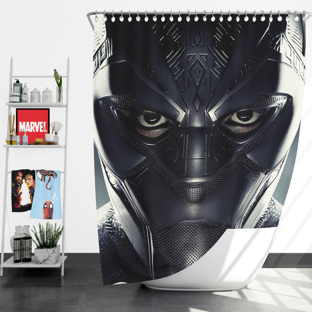 Black Panther Marvel Comics Shower Curtain Ebeddingsets