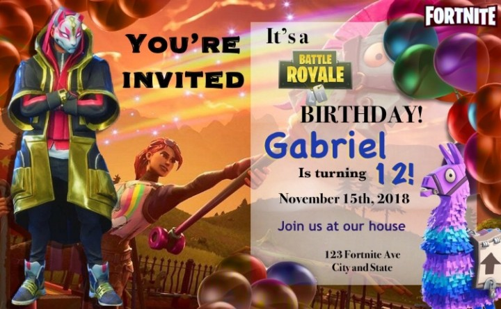 Birthday Invitations You Can Print Home