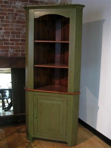 Open Face Farmhouse Corner Cabinet Ecustomfinishes
