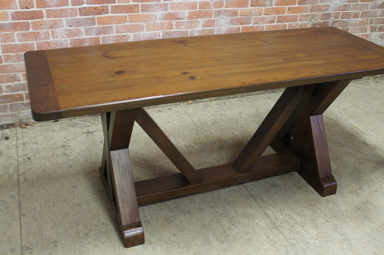 Trestle Table In Reclaimed Old Pine Ecustomfinishes